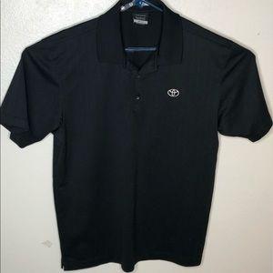 Nike Golf Shirt Men's XL shirt.  Dri-Fit  Black